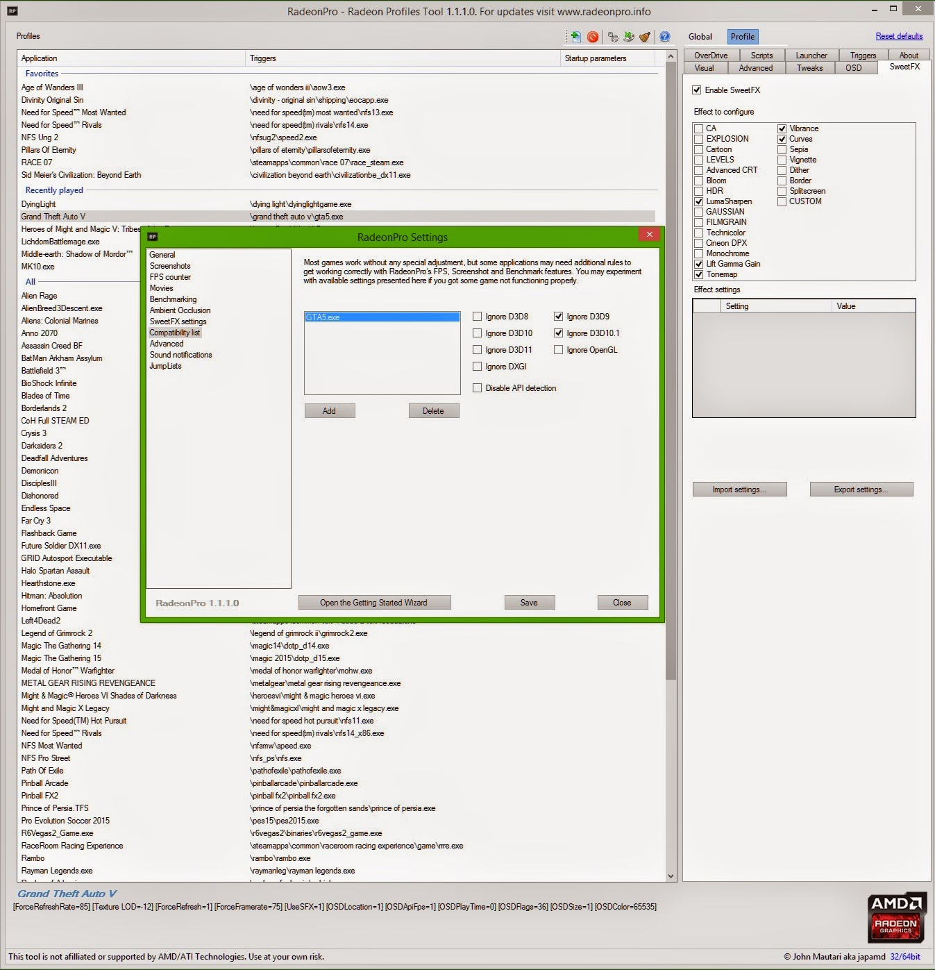 Fine young Artists CREOstvdivm: ------> Tweaks & Tips for AMD/Radeon
