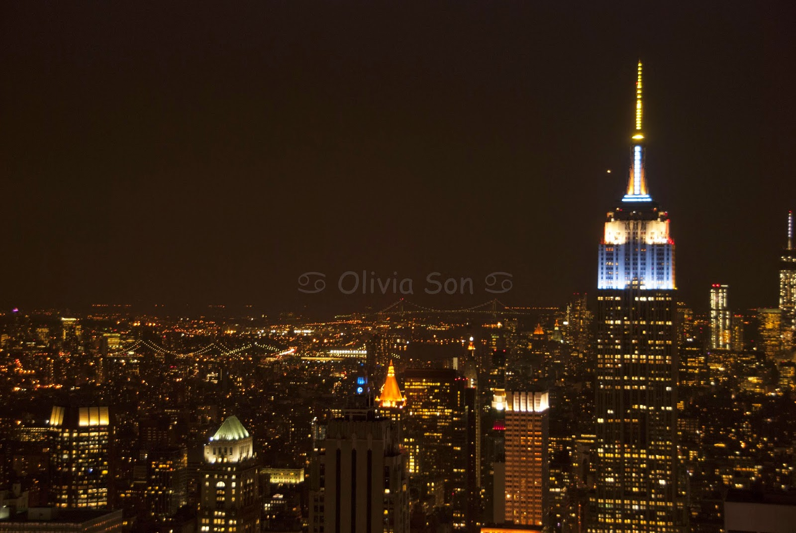 top of the rocks, new york city by night, usa
