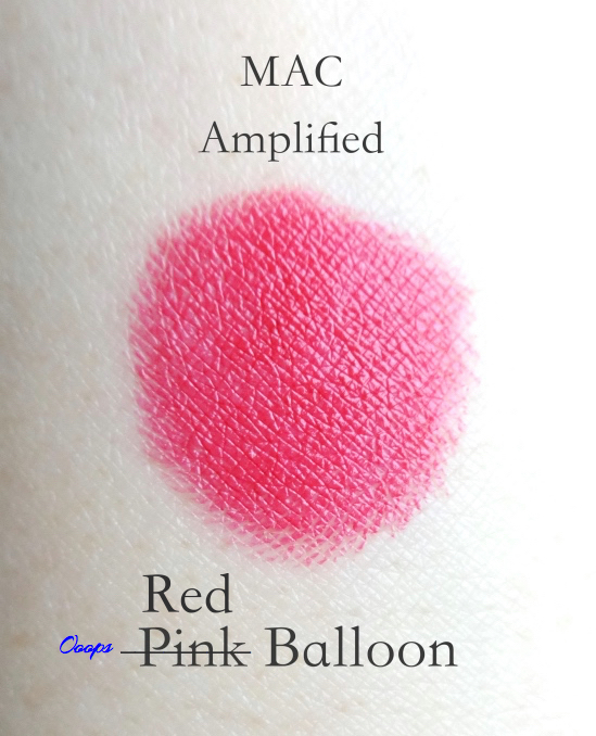 MAC Amplified Lipstick Red Balloon swatch