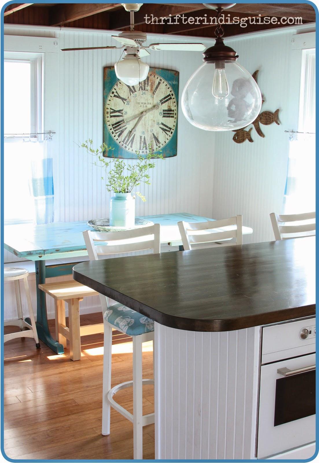 diy beachy bar stool tutorial beachy kitchen table Beachy Kitchen Updates