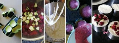 Zubereitung Portionstörtchen mit Beeren und Zucchini