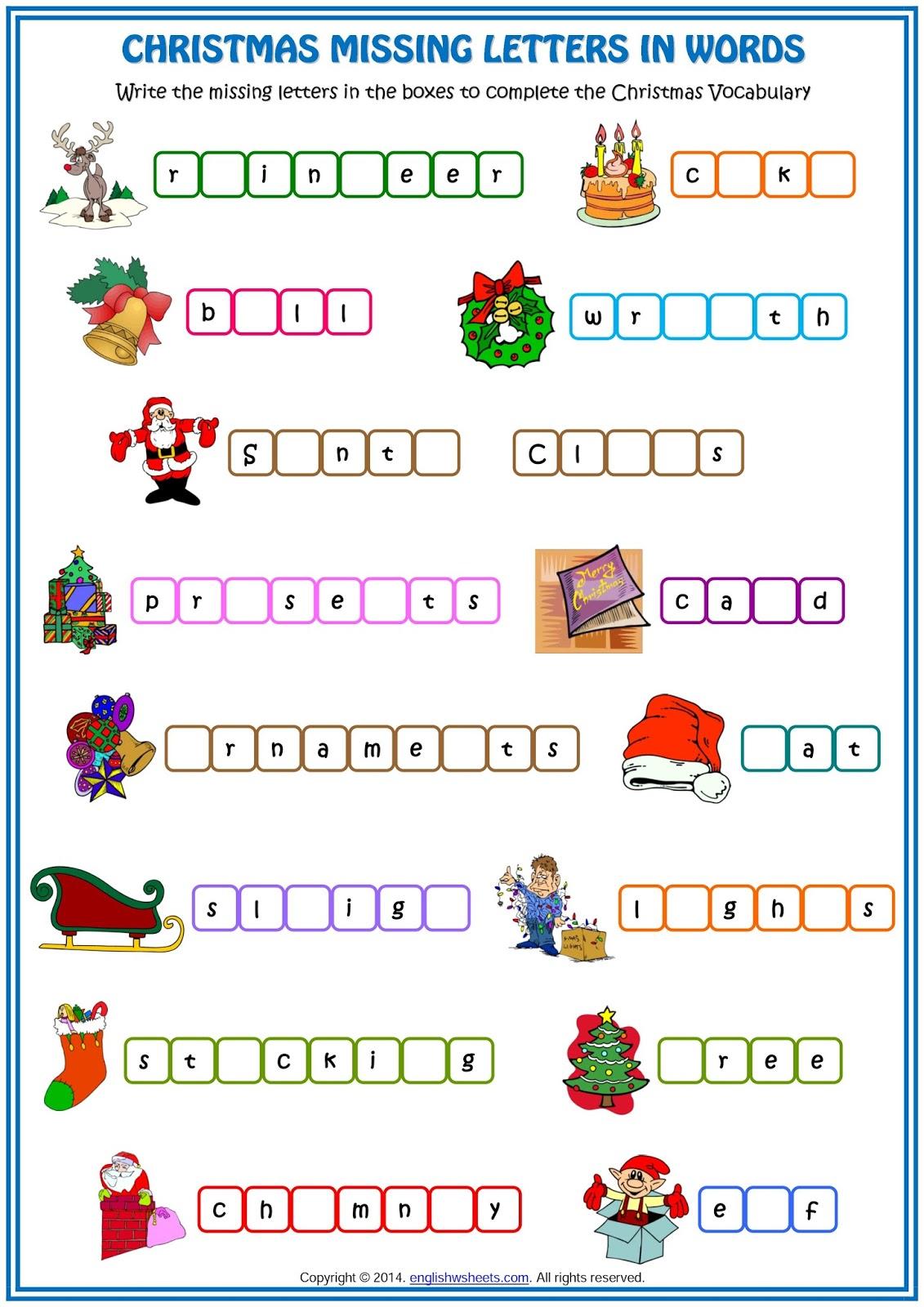 El Mundo De 6oc Christmas Vocabulary