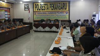Polda Riau Gelar Sosialisasi Supervisi Polmas di Polresta Pekanbaru