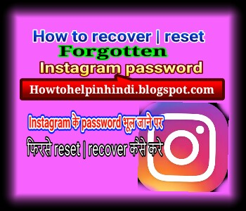 how to change forgotten instagram password