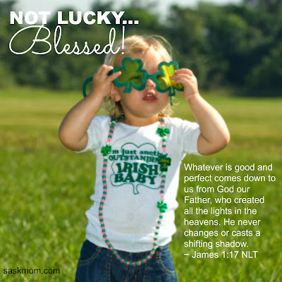 Blessed, not lucky!