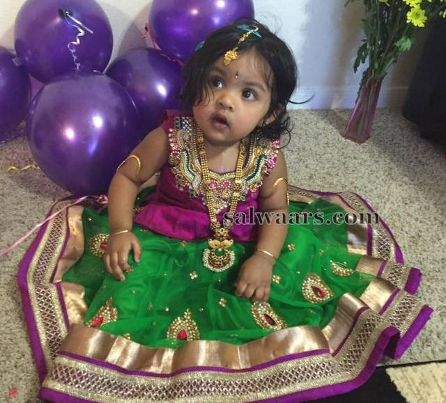 Baby in Her B'day lehenga