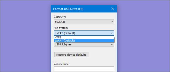 كيف تقوم بعمل فورمات لاى فلاشة USB يتجاوز حجمها اكثر من 32 جيجا بايت بنظام FAT32