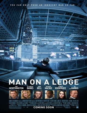 Poster Of Man on a Ledge 2012 Hindi Dual Audio 450MB BluRay 720p ESubs HEVC Free Download Watch Online downloadhub.in