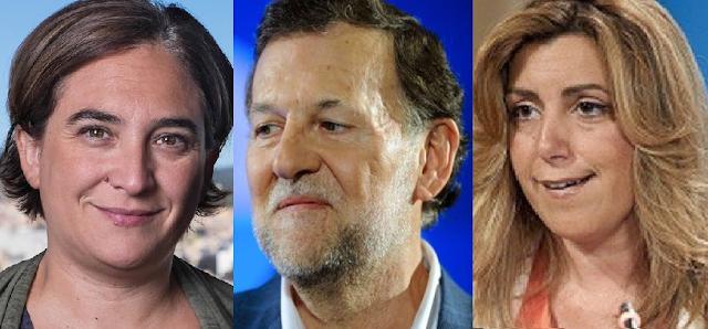 Ada Colau responde a Mariano Rajoy y a Susana Díaz