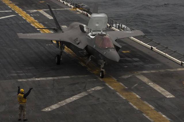 Marine F-35B hystoric first deployment Wasp