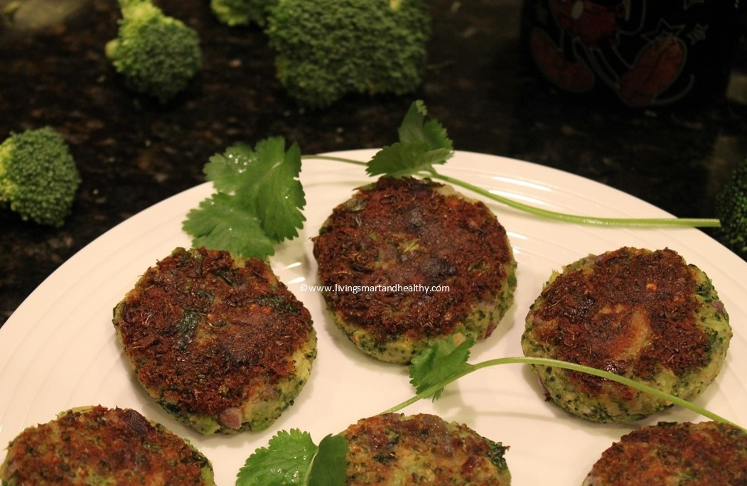 Broccoli Potato Patties / Broccoli Aloo Tikki