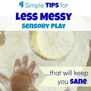 http://applegreencottage.blogspot.com/2015/09/sensory-bins-easy-less-mess.html