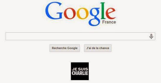 Google est désormais agrémentée d'un logo Je suis Charlie
