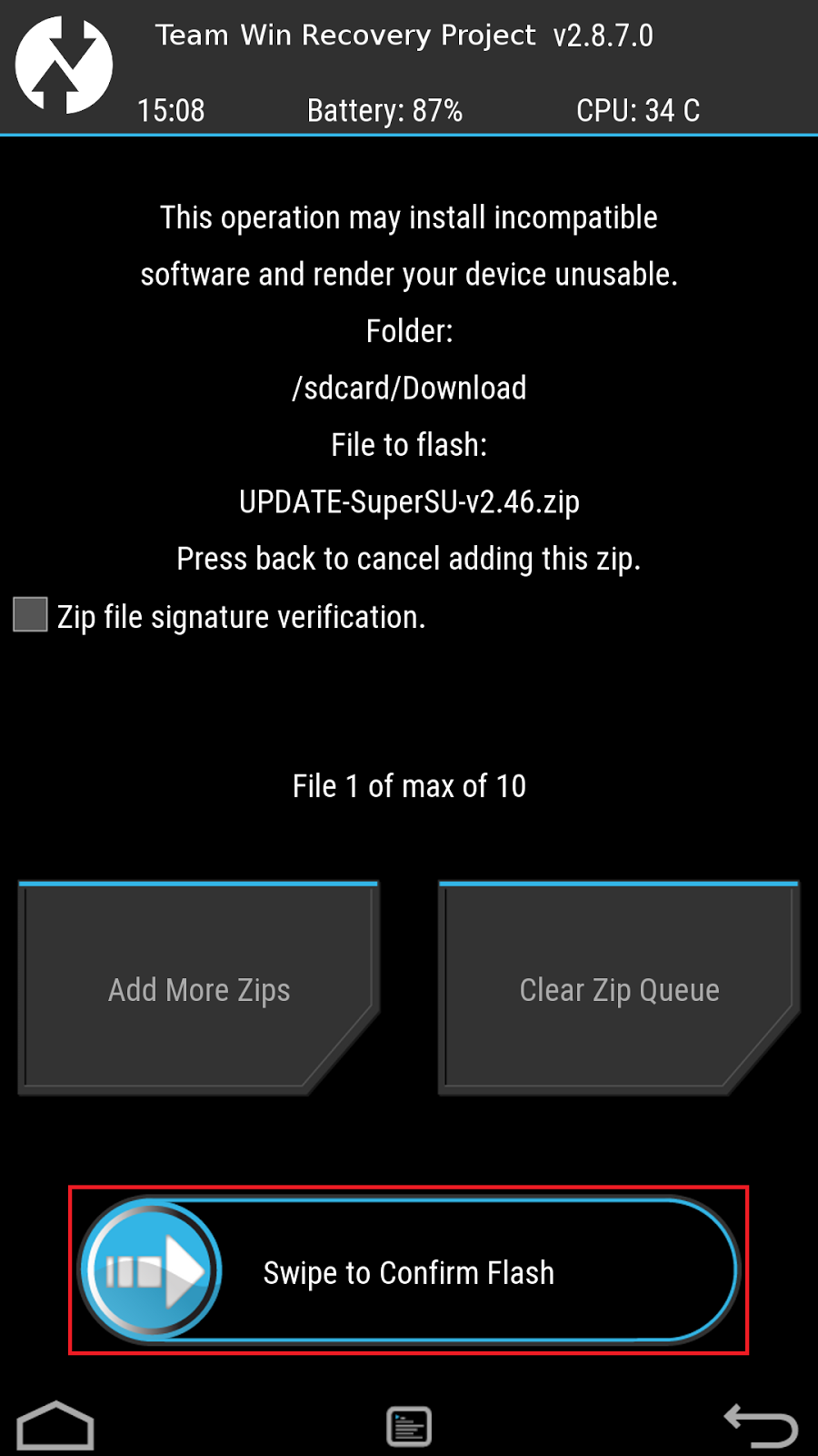 Acer Liquid Z630 (T03) ကို TWRP Recovery ထည့်သွင်း