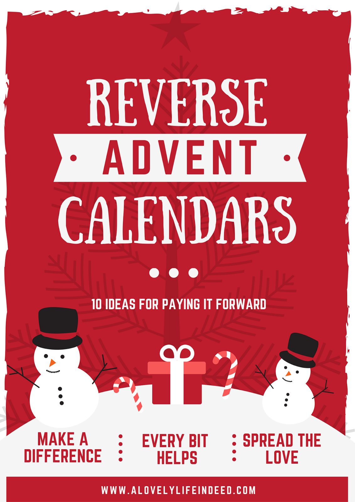 Calendar Category Ideas : A lovely life indeed reverse advent calendar ideas
