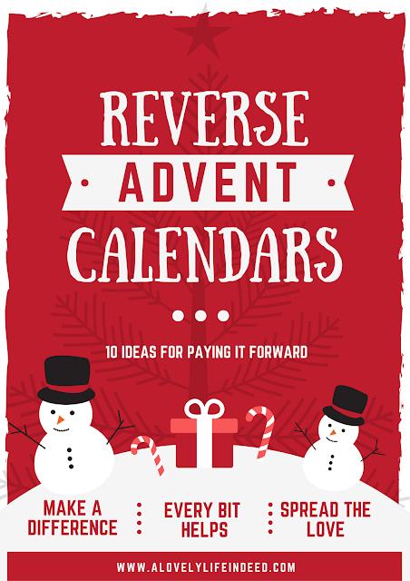 Reverse Advent Calendar Ideas : A lovely life indeed reverse advent calendar ideas