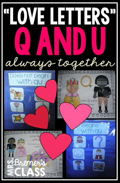 Activities to practice letters Q and U and that they are always together in words