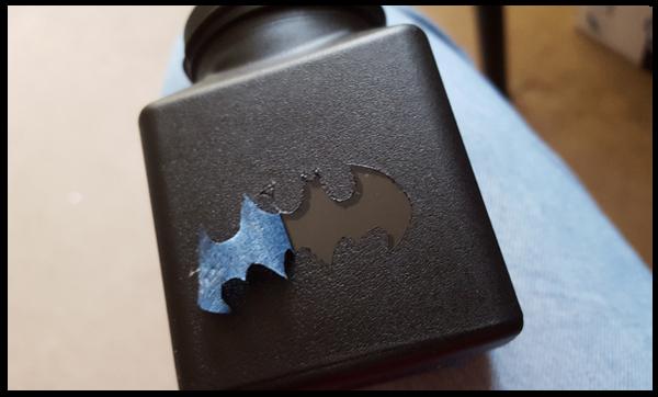 Picking off the Batman logo