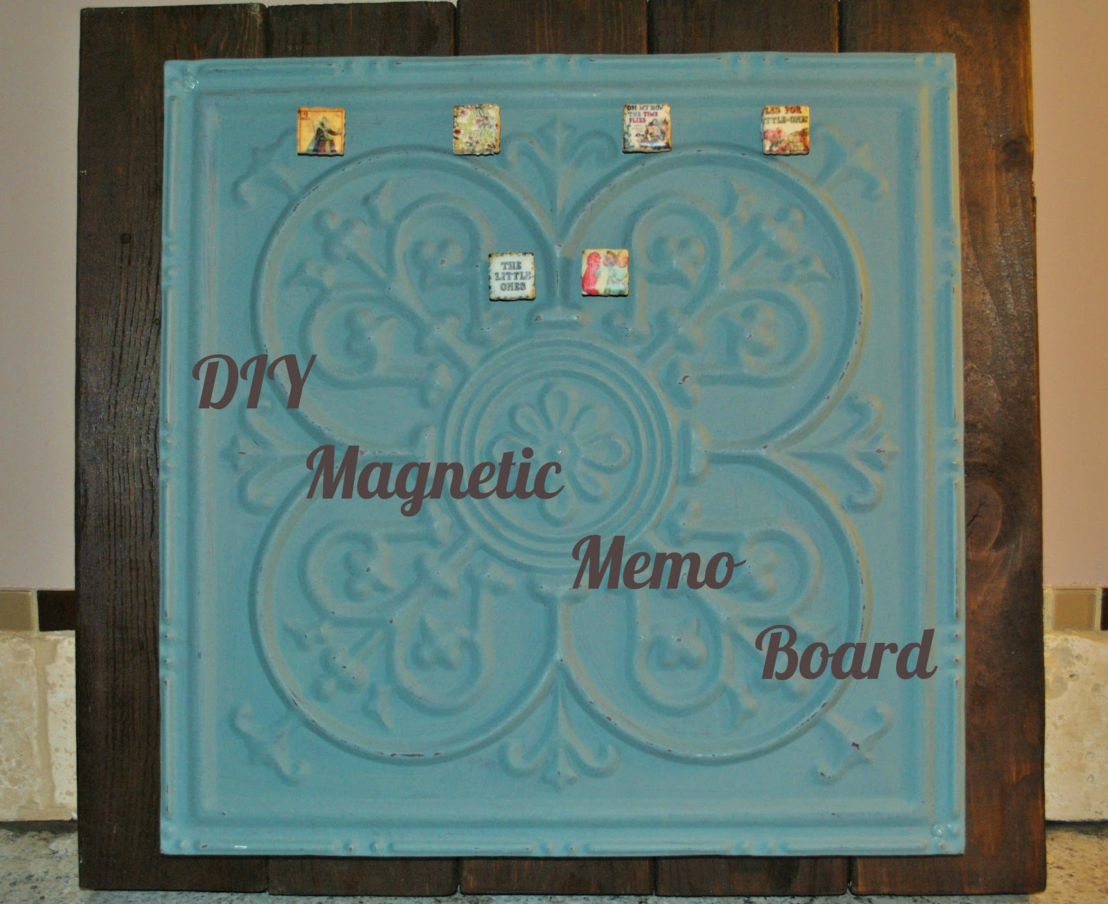 Life With 4 Boys Diy Shabby Chic Magnetic Memo Board
