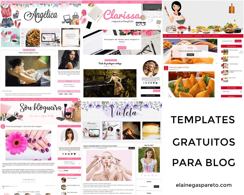 Templates gratuitos para seu blog- 5 modelos para você escolher!