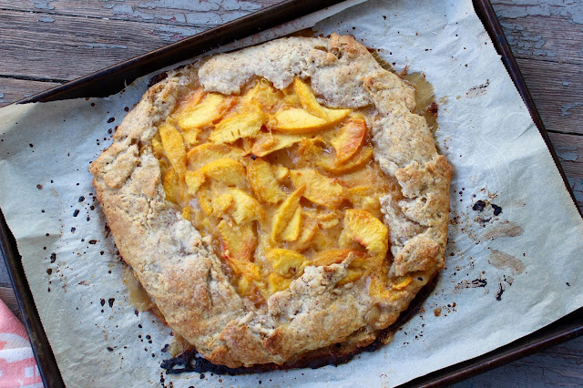 Peach Galette with Almond Buttermilk Crust | Nothing in the House