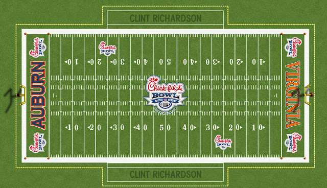 auburn football 2011 chick fil a bowl field