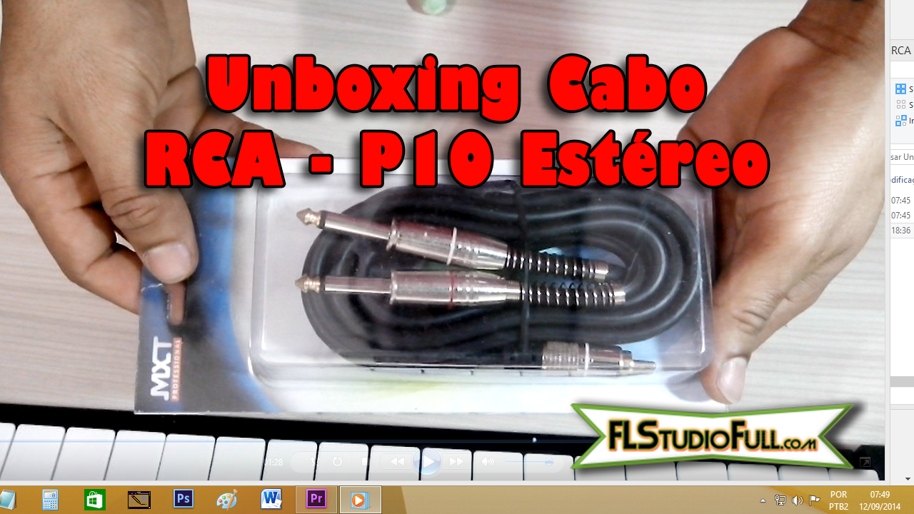 Unboxing do Cabo RCA - P10 Duas Vias