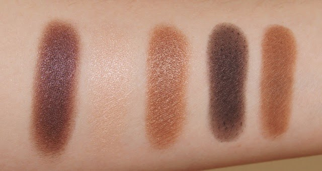 dior 5 couleurs eyeshadow palettes 796 cuir cannage swatches
