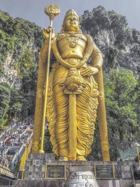 Batu Caves Golden Buddhist Statue