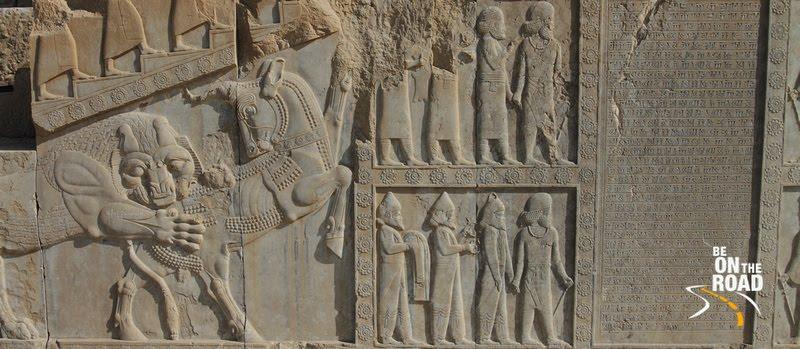 Persian empire reliefs at Persepolis, Iran