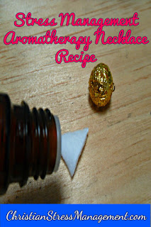 Work stress management aromatherapy necklace recipe