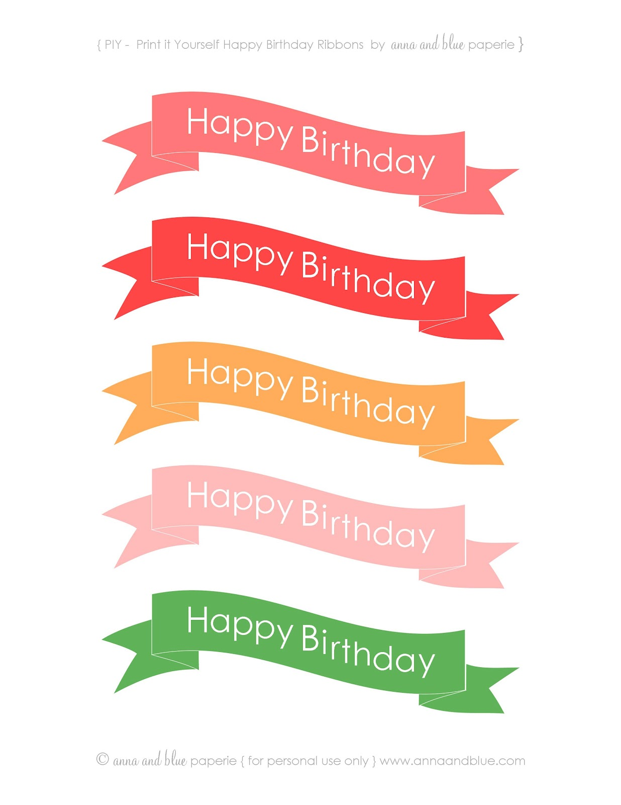 anna and blue paperie: {Free Printable} Happy Birthday ...