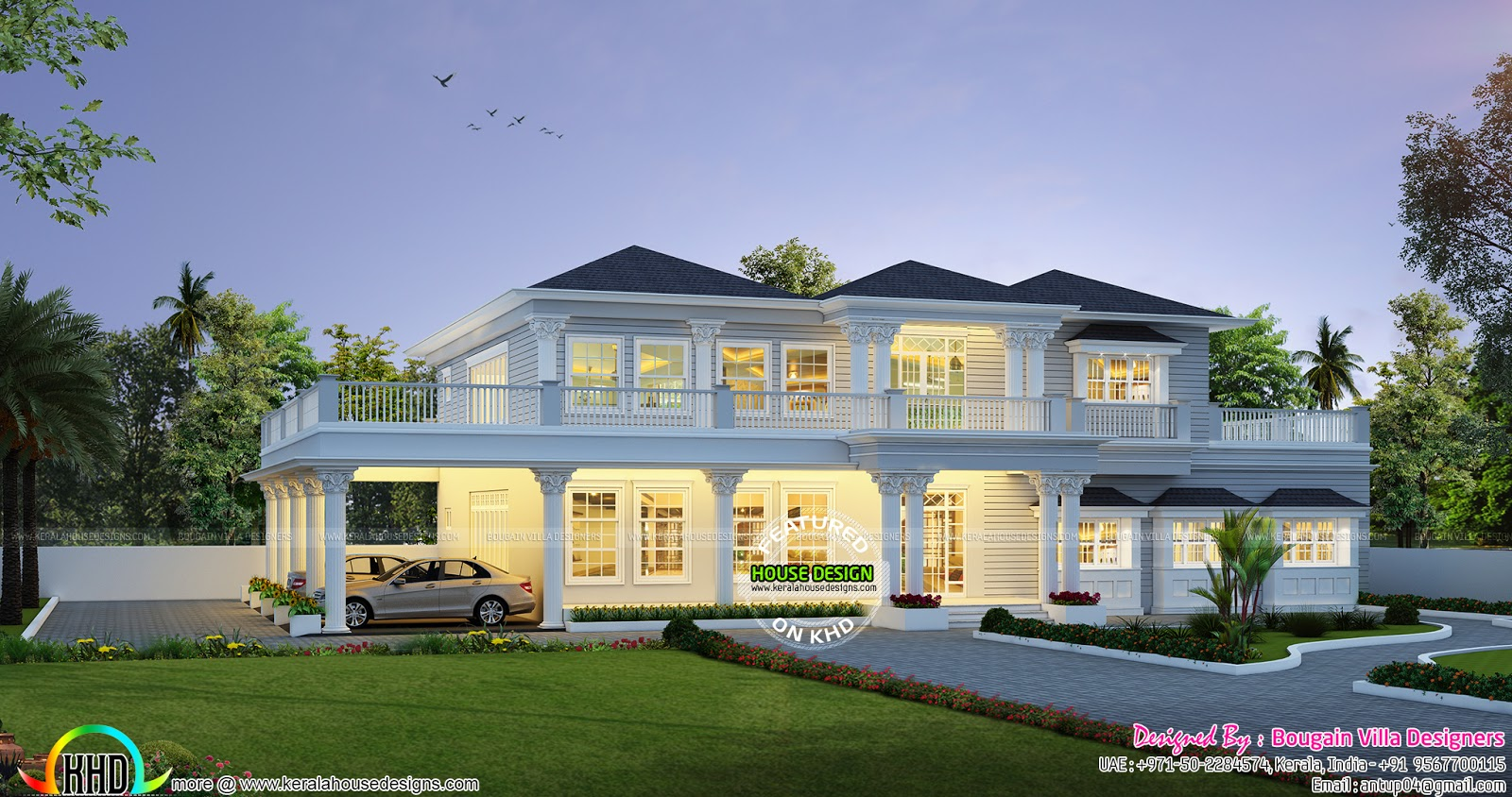 Modern 5 bhk villa architecture kerala home design and for Amazing modern houses kerala