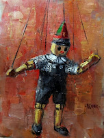 """Puppet Pete"" Painting by Julie Ford Oliver"