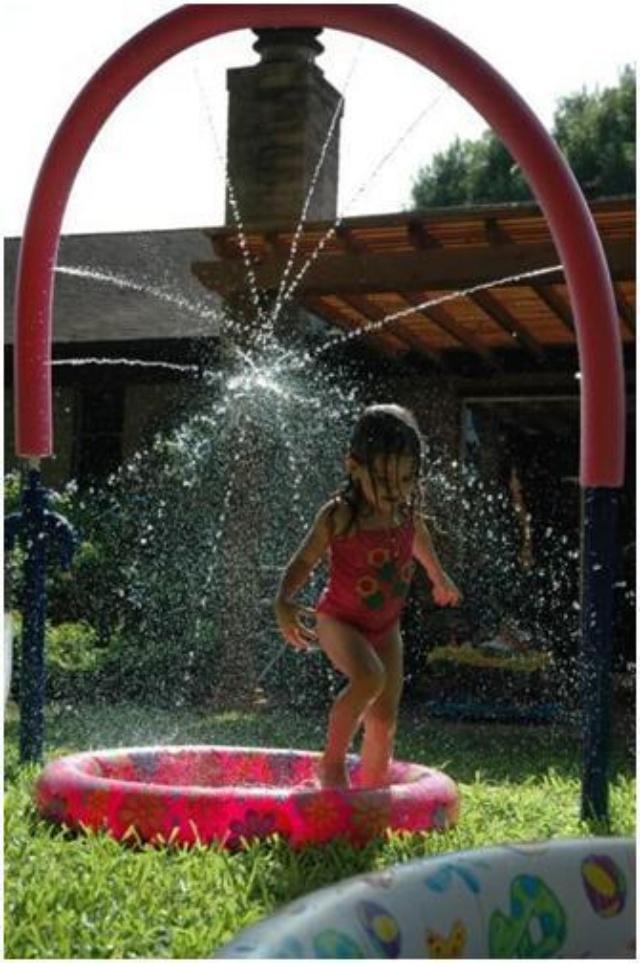 Túnel de agua para los niños