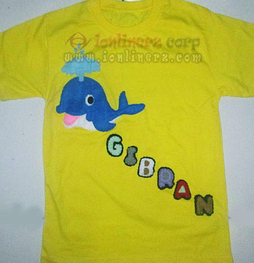 Kaos / Baju Flanel Anak Karakter Kartun Whale / Paus