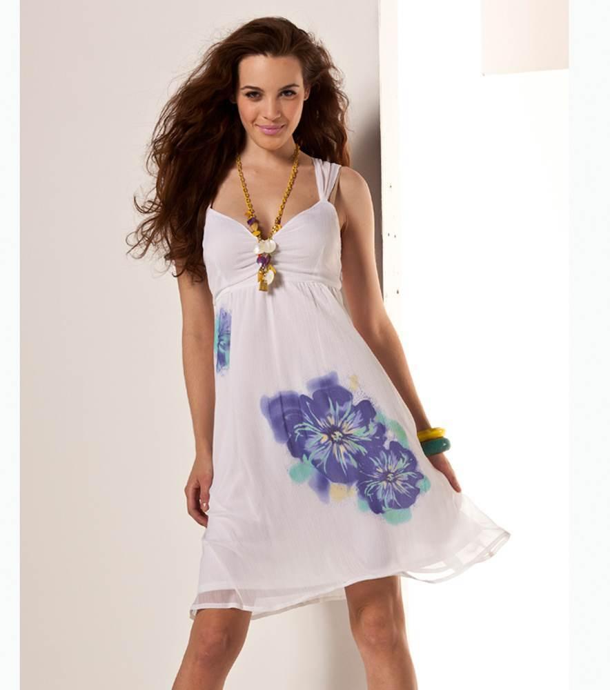 06256c5798 Vestidos para Ti  Lindos Vestidos Cortos color Blanco para Verano
