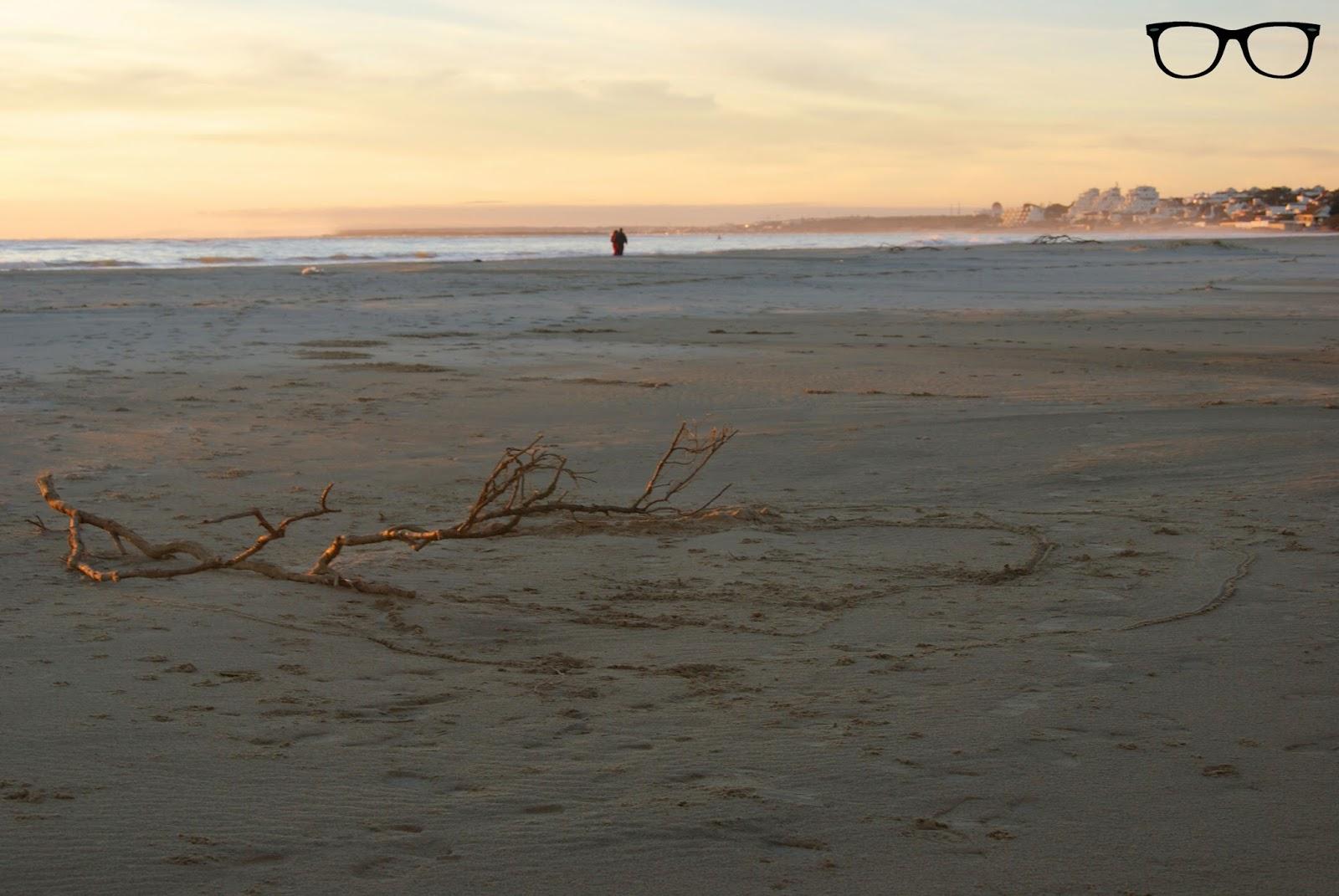 Playa de El Portil en invierno