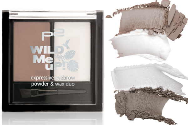 p2 wild me up EXPRESSIVE EYEBROW powder & wax duo