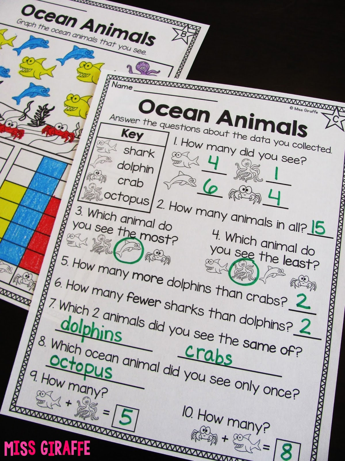 Color Worksheet For Second Graders