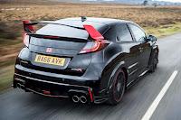 Honda Civic Type R Black Edition (2016) Rear Side