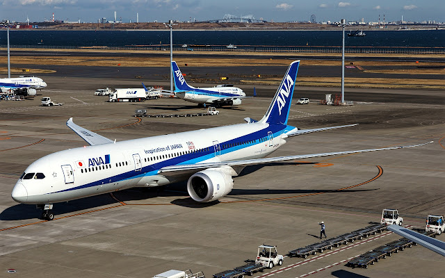 Boeing 787-9 of All Nippon Airways Inspiration of Japan Livery