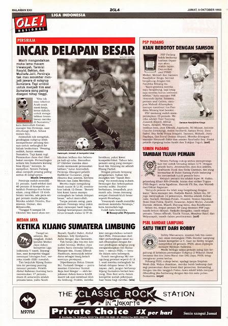 PERSIRAJA INCAR DELAPAN BESAR LIGA INDONESIA V