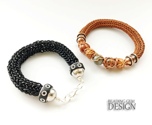 How to Make Leather Viking Knit Bracelets Part 1 - The