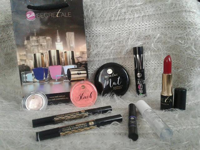 linia kosmetyków z Biedronki Bell puder szminka mascara