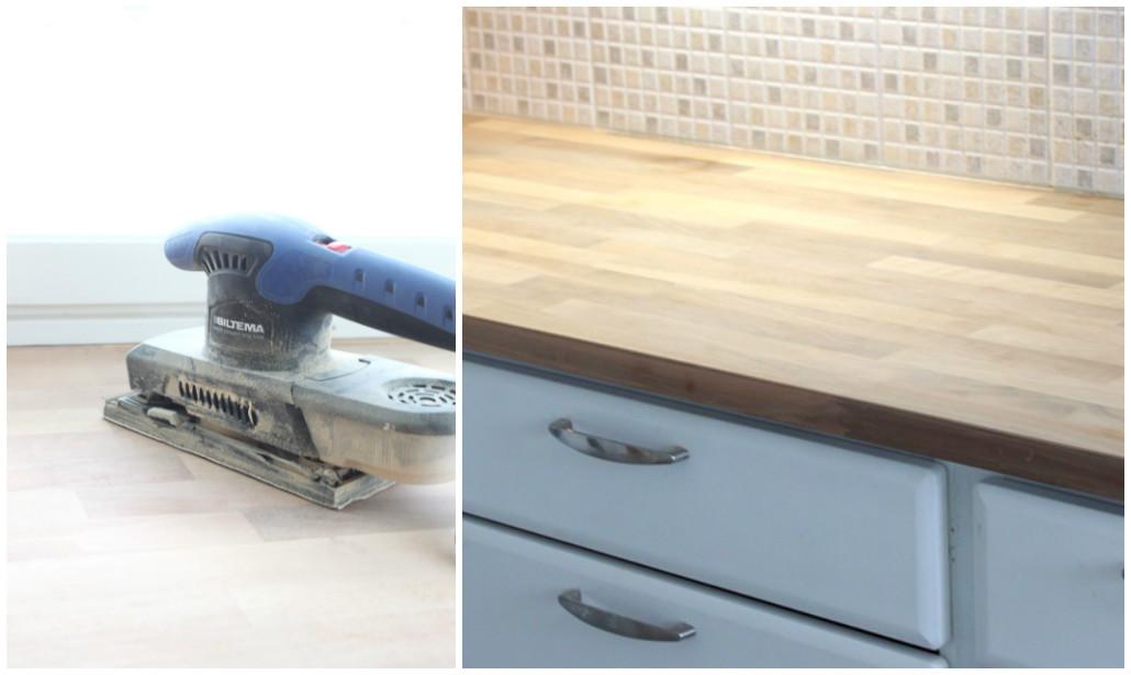 Keittiön puutasojen vahaus  Kotini on helmeni