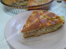 Пирог заливной с картошкой и фаршем