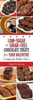 Low-Sugar or Sugar-Free Chocolate Treats for Your Valentine (many are Gluten-Free) from KalynsKitchen.com