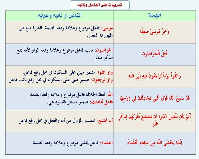 """انفراد.... كل قواعد اللغة العربية لطلاب """"ابتدائي - اعدادي - ثانوي"""" في صورة لوحات مبسطة مع الشرح والتدريبات 80"""