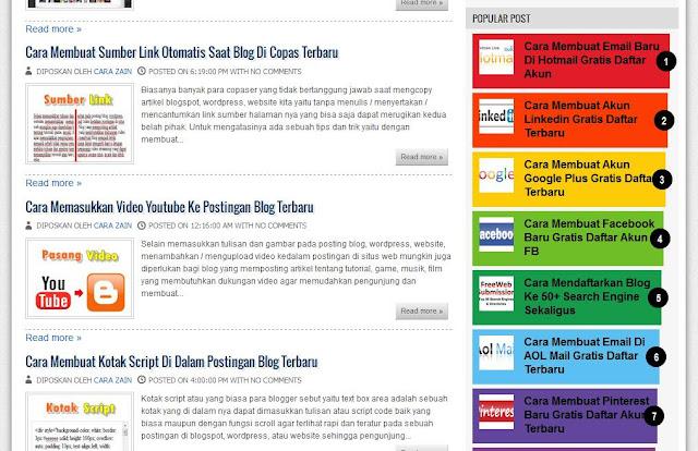 Cara Membuat Popular Post Warna Warni Di Blog Terbaru